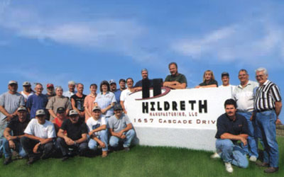 Hildreth Manufacturing corporate sign and headquarters for the largest selection of Beryllium Copper Plunger Tips.